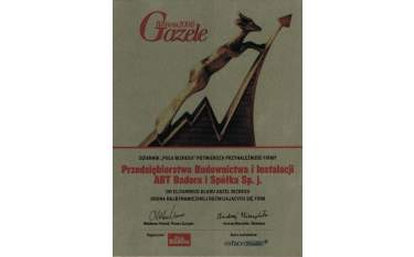 Certyfikat przynależności do klubu Gazel Biznesu 2006
