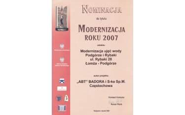 Nominacja do tytułu Modernizacja roku 2007